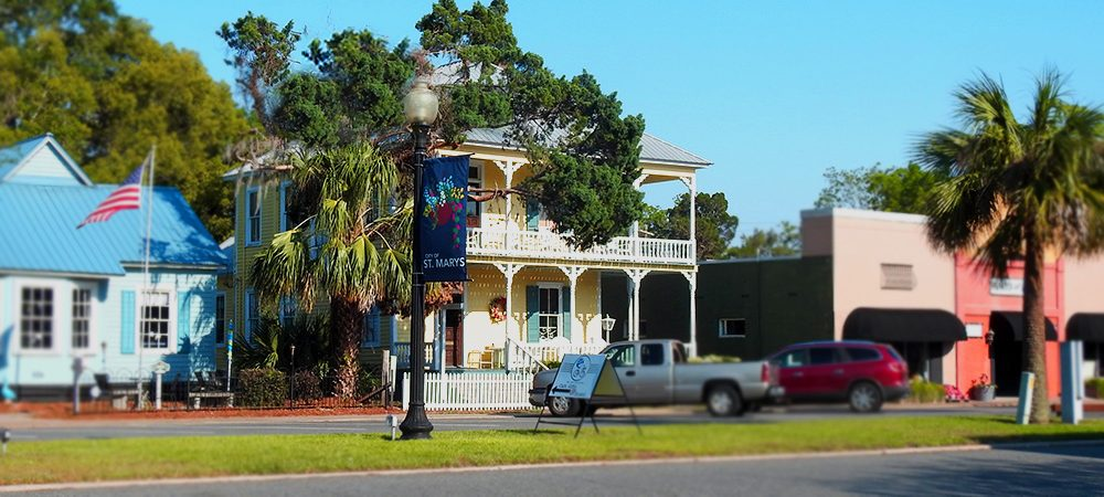 One block from the Cumberland Island Ferry